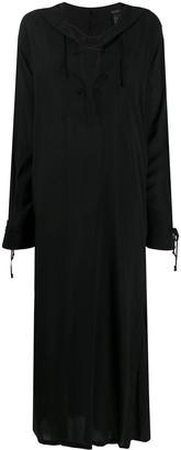 Ann Demeulemeester Tied-Neckline Flared Dress