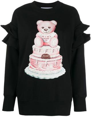 Moschino Teddy Ruffle Sleeve Sweatshirt