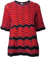 M Missoni geometric pattern knitted blouse - women - Cotton/Polyamide/Polyester - S