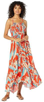 Free People Heat Wave Printed Maxi (Red) Women's Dress
