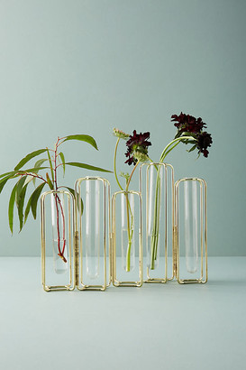 Anthropologie Staggered Vase By in Gold Size ALL