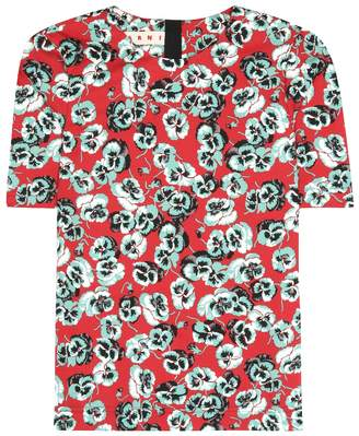 Marni Printed cotton-blend top