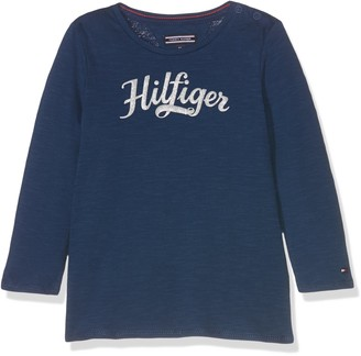 Tommy Hilfiger Girl's AME Lurex CN Knit L/S Long Sleeve Top