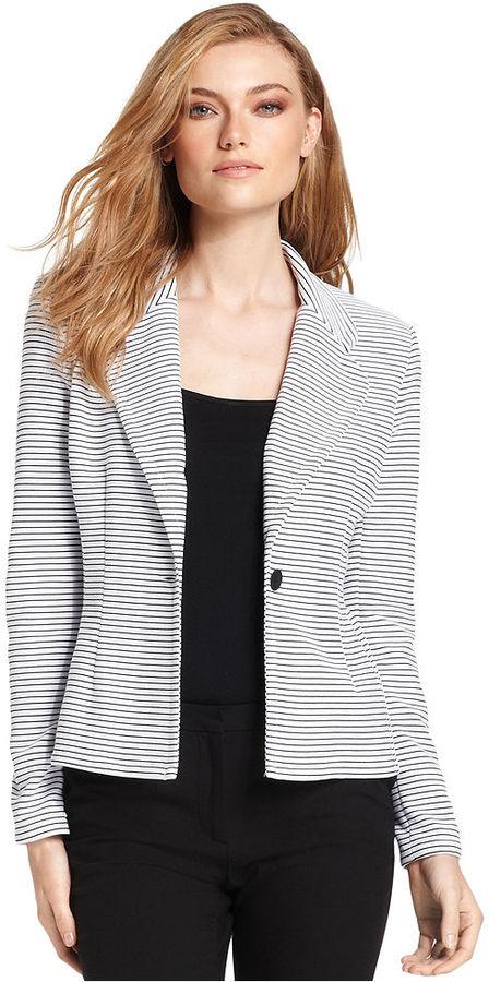 Calvin Klein Jacket, Striped Soft Blazer