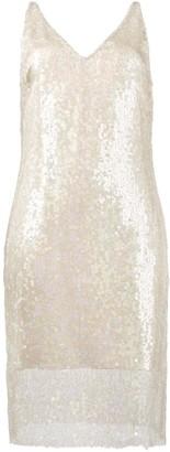 HANEY Laura sequin embellished slip dress