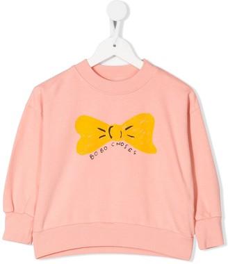 Bobo Choses Bow Print Sweatshirt