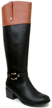 Karen Scott Vickyy Wide Calf Riding Boots, Created for Macy's Women's Shoes
