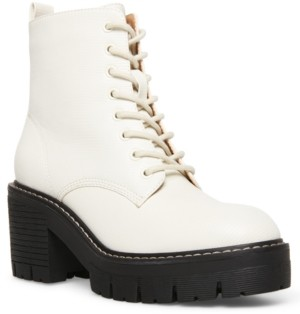 Madden-Girl Acerr Lace-Up Lug Combat Boots