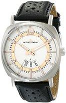 Jacques Lemans Men's 1-1740D Lugano Analog Display Quartz Black Watch