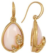 Carolee Pave Rose Teardrop Earrings