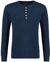 Knowledge Cotton Apparel Long Sleeved Top Navy