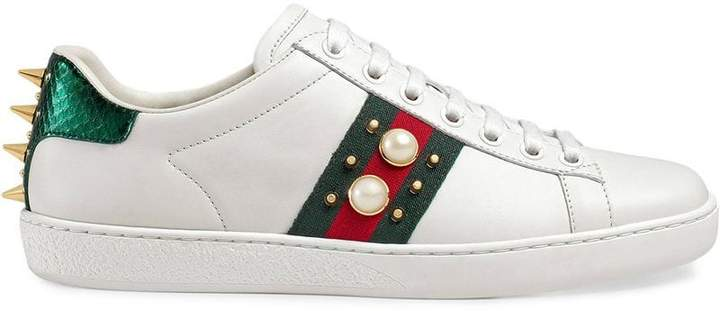 bd348612ceb Gucci Studded Shoes - ShopStyle