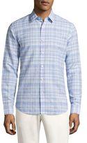 Theory Sylvain Checkered Shirt