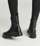Thumbnail for your product : Reiss Thea - Leather Chelsea Boots in Black