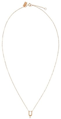 VANRYCKE Rose Gold And Diamond Abecedaire Letter U Necklace