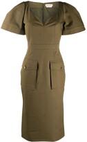 Alexander McQueen patch pockets midi dress
