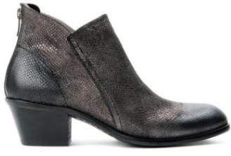 Hudson Metalic Pewter Apisi Calf Ankle Boots - 37 - Silver/Grey