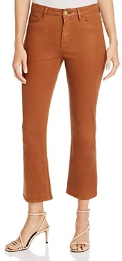 Frame Le Cropped Mini Boot Jeans in Caramel Coated