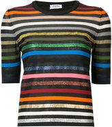 Sonia Rykiel short-sleeve striped rainbow sweater