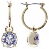 Gloria Vanderbilt Gold-Tone Crystal Click-It Hoop Earrings