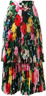 Richard Quinn Layered Floral Midi Dress