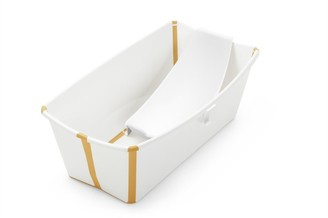 Stokke Flexibath White / Yellow Bundle Tub with Newborn Support