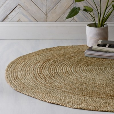The White Company Jute Round Rug, Natural, One Size