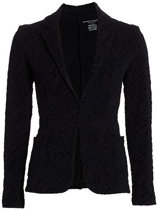 Majestic Filatures Textured Blazer Jacket