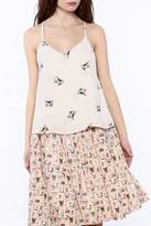 Everly Kitty Print Top