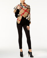Charter Club Plaid Bouclé Square Blanket Scarf, Only at Macy's