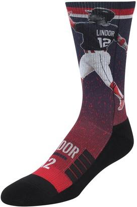 Men's Strideline Francisco Lindor Navy Cleveland Indians Full Sublimated Player Crew Socks