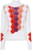 Peter Pilotto Multicolored Crochet Turtleneck Sweater