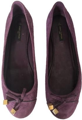 Louis Vuitton Purple Patent leather Ballet flats