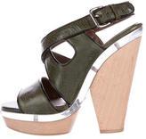 Marni Leather Multistrap Platform Sandals