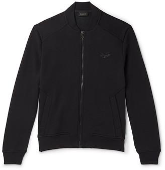 Ermenegildo Zegna Slim-Fit Fleece-Back Cotton-Blend Jersey Bomber Jacket