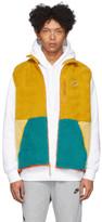 Nike Yellow Sherpa Fleece Vest