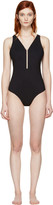 Alexander Wang Black Fishline Swimsuit
