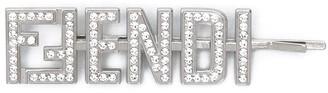 Fendi crystal-embellished FF hair clip set