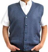 CELITAS DESIGN Vest alpaca and blend V neck buttons made in Peru Steel XL