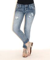 Amethyst Jeans Hattie Floral-Contrast Skinny Jeans - Plus