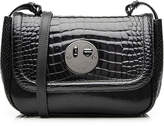 Hill & Friends Happy Mini Embossed Patent Leather Shoulder Bag