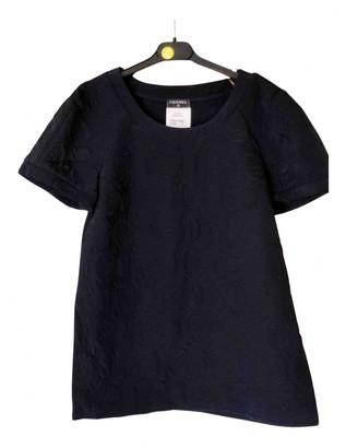 Chanel Blue Silk Tops