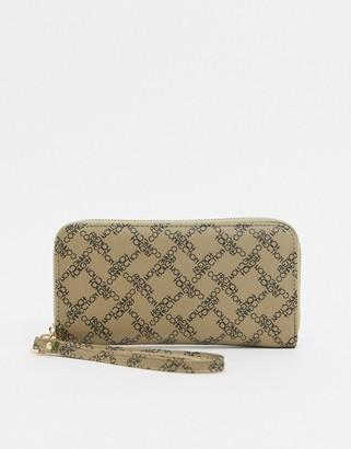French Connection Monogram Large Zip Around Ladies' wallet