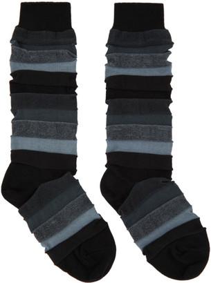 Issey Miyake Black Short Stepborder Socks