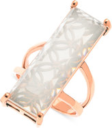 GUESS Rose Gold-Tone Large Stone Statement Ring