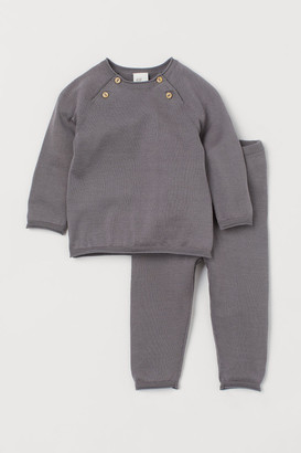 H&M Silk-blend Sweater and Pants - Gray