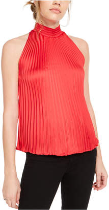 1 STATE 1.state Pleated Halter-Neck Top