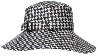 Eric Javits Kaya Houndstooth Check Hat