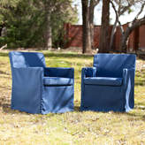 Asstd National Brand Tulum Set of 2 Outdoor Sofa Chairs