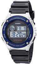 Casio Unisex W-216H-2AVF Illuminator Watch With Grey Resin Band